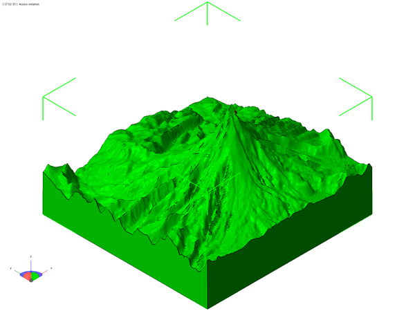 3d topographic map stl